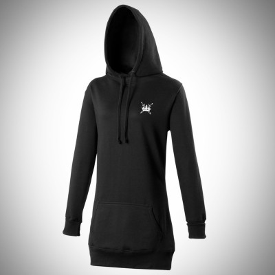 Sword & Crown Longline Hoody