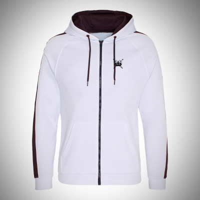 Sword & Crown Poly Zip Hoodie