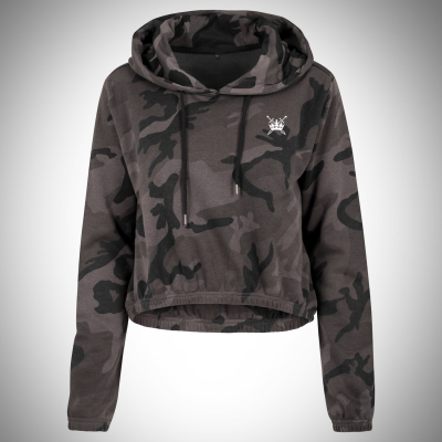 Sword & Crown Camo Crop Hoody