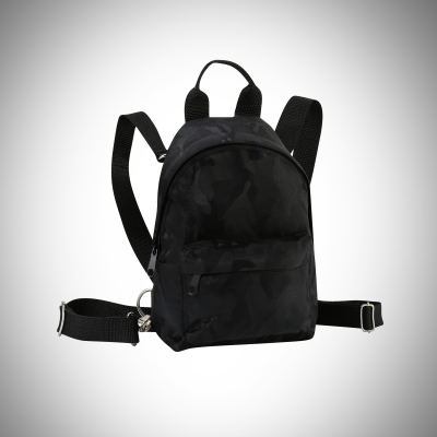Black Camo Mini Backpack