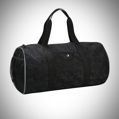 Black Camo Roll Bag