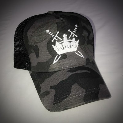 Sword & Crown Camo Trucker Snapback