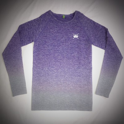 Sword & Crown Seamless Fade Out Long Sleeve Top